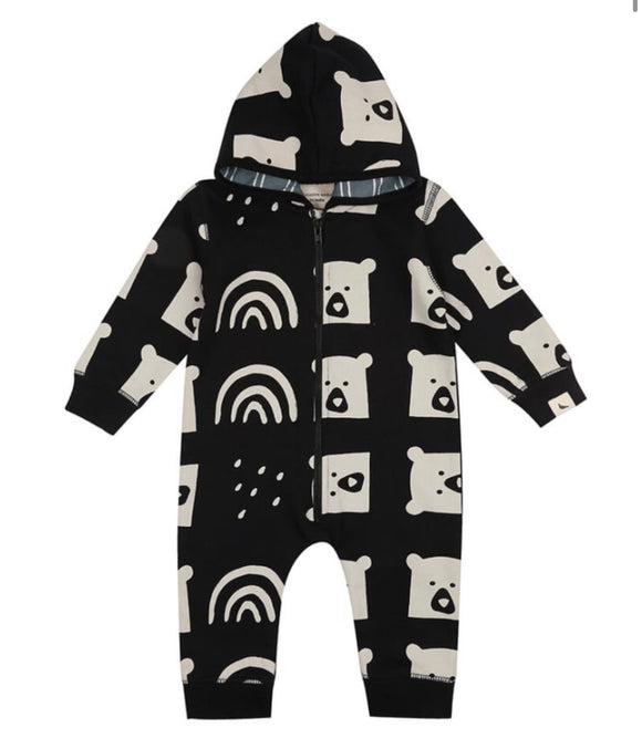 Rainbear GOTS certified organic cotton onesie suit by Turtledove London