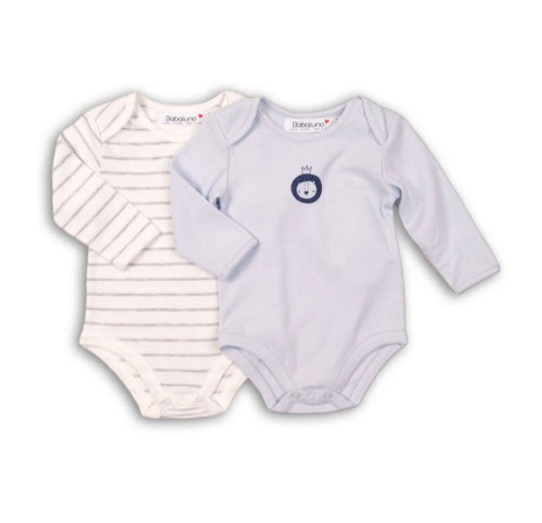 Lion and stripe two pack long sleeve bodysuits