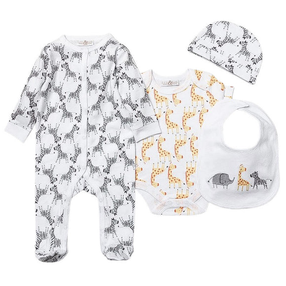 Zebra and friends 5 piece gift set (0-6 months)