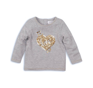 Cupid love sequin heart top (9 months to 3 years)