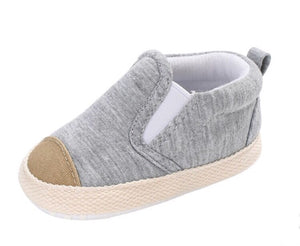 Grey baby canvas plimsole shoes
