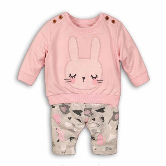Bunny rabbit lashes sweatshirt and legging two piece set (0 to 2 years)