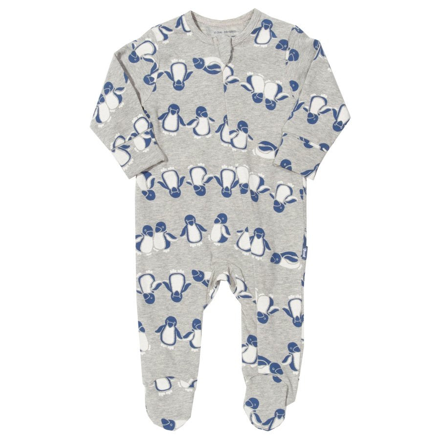 KITE GOTS certified organic cotton zippy ponko penguin sleepsuit babygrow