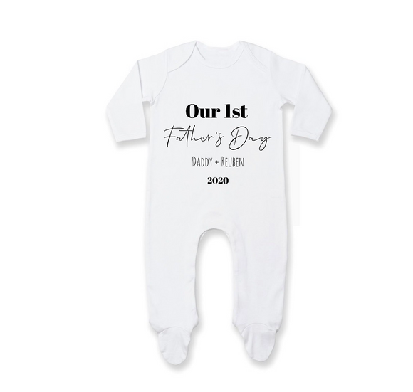 Our first Father's Day - romper - 0-12 months