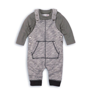 Camouflage jersey dungaree and long sleeve bodysuit camo set (sizes 0-24 months)