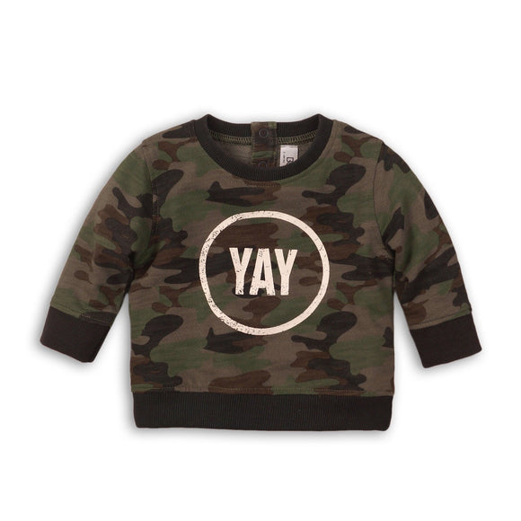 Yay camo khaki jersey cotton sweatshirt