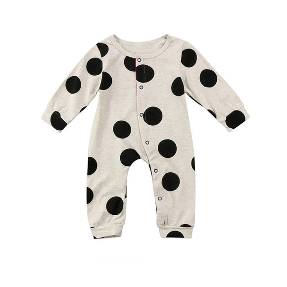 Giant dot footless babygrow romper (0-2 years)