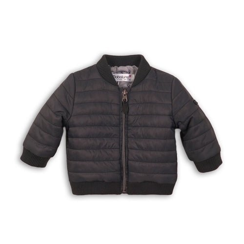 Quilted Black Zipped Jacket