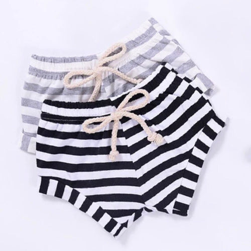 Breton stripe summer shorts pair (0-2 years)