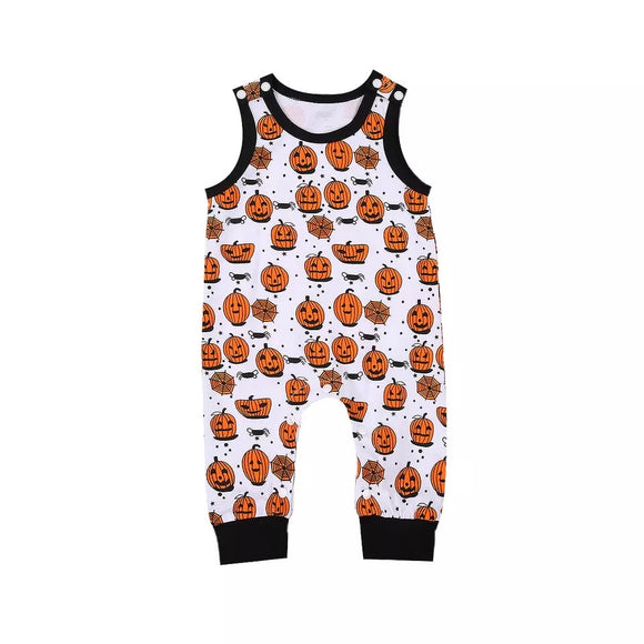 Pumpkin Picking Halloween dungarees (up to 2 years)