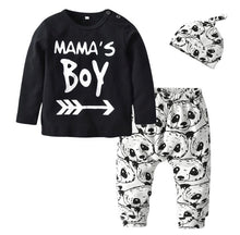 Mama's boy panda trouser top and hat set (0 to 2 years)