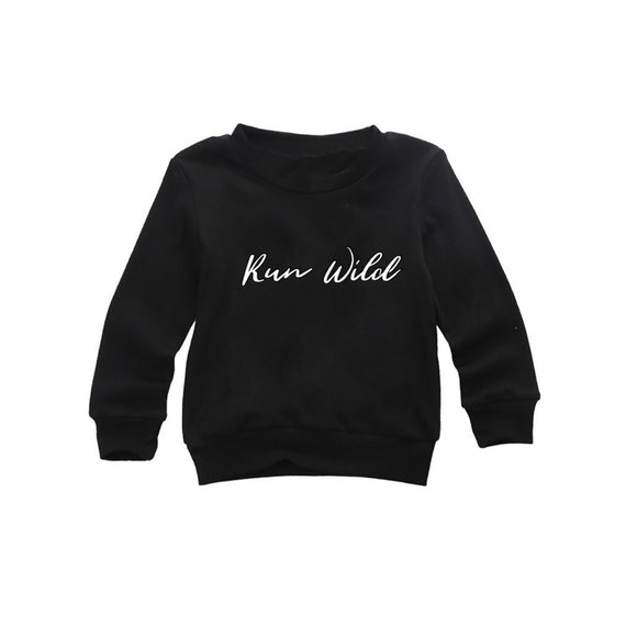 Run wild black long sleeve t-shirt (0-2 years)