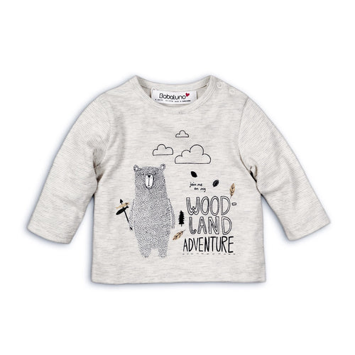 Woodland adventure bear print long sleeve top