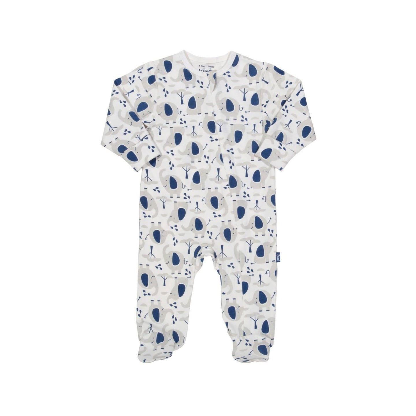Organic cotton Ellie the Elephant Parade zippy sleepsuit by KITE