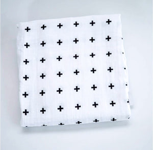 Extra large 120cm muslin cross swaddle blankets
