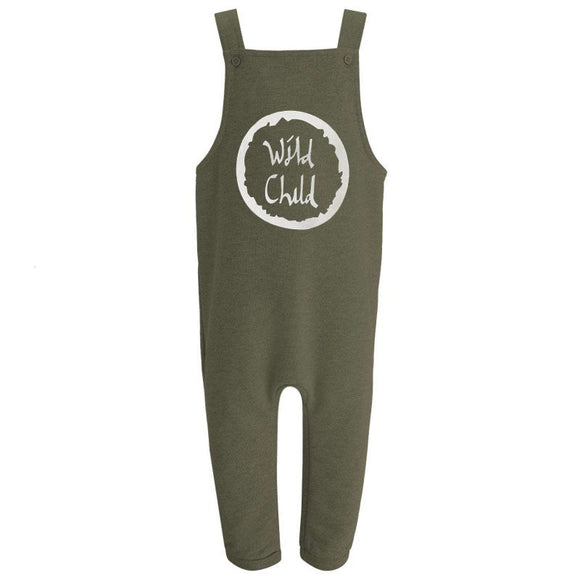 Wild child khaki fleece lined dungarees (6 months to 3 years)