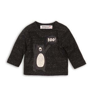 Boo! Long sleeve jersey cotton bear print top  (sizes 0-24 months)