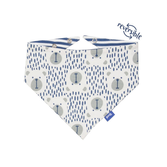 KITE GOTS certified organic cotton speckled bear bib