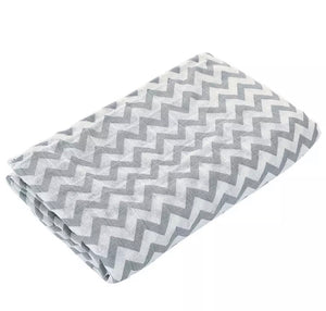 Extra large 120cm muslin pin chevron swaddle blankets