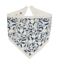 KITE organic cotton GOTS certified reversible panda bandana bib