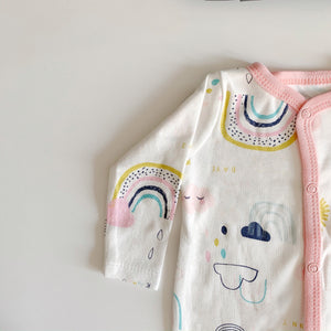 Rainbow and cloud footed romper 0-12 months