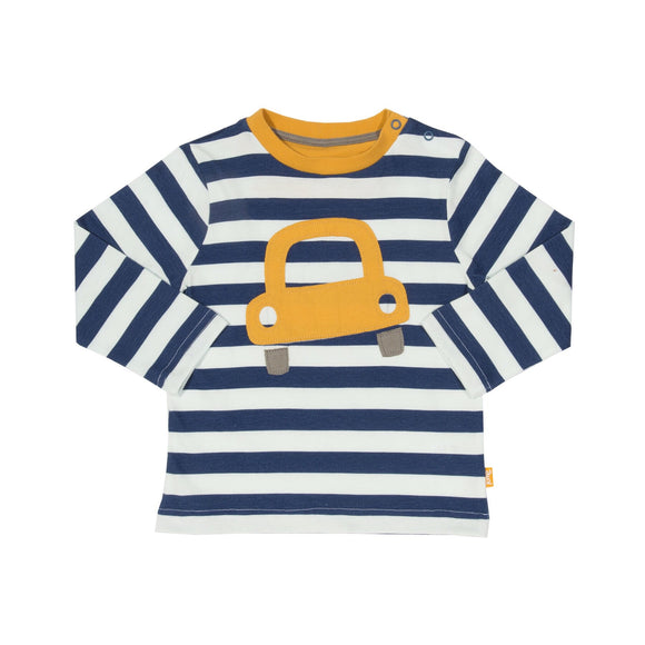 KITE organic cotton stripe bubble car top