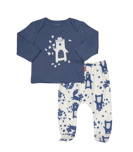 AW18 KITE GOTS certified organic cotton two piece top and footed and footless leggings