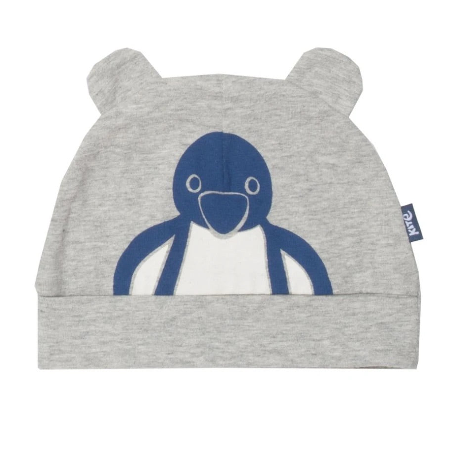 Certified Organic cotton ponko penguin hat with ears by Kite