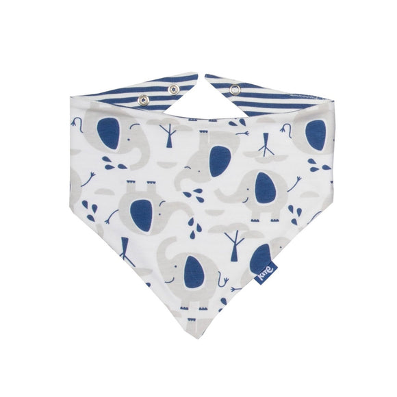 Organic cotton Ellie the Elephant Parade reversible bib by KITE