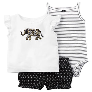Tribal Elephant Girls summer set (up to 18 Months)