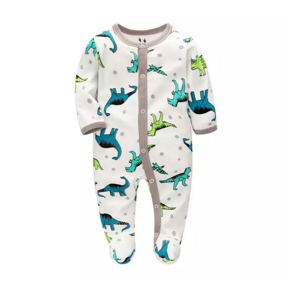 Roarsome polka dot and dino baby grow (newborn to 6 months)