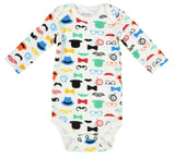 Clearance 12-18 months - Moustache, Hats & Clock Bright Top