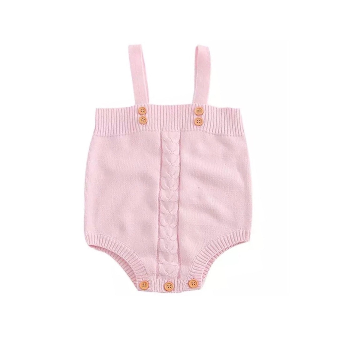 Spanish style cable knitted pink jumpsuit