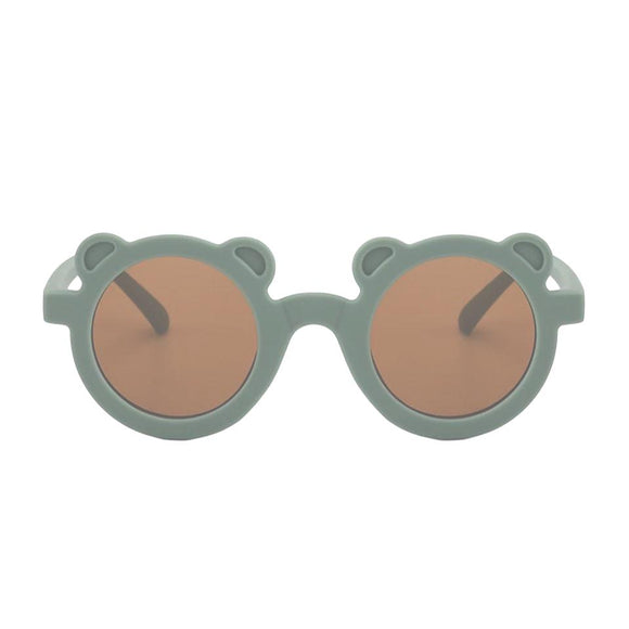 Green teddy bear sunglasses (One Size - up to 5 years)