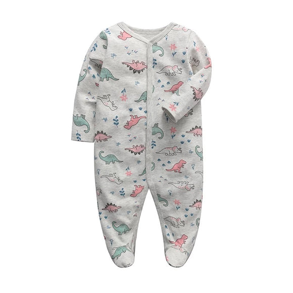 Girls like dinosaurs too! Footed romper 0-12 months