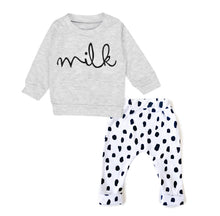 Did someone say milk? Cotton two piece lounge set (0-3 years)