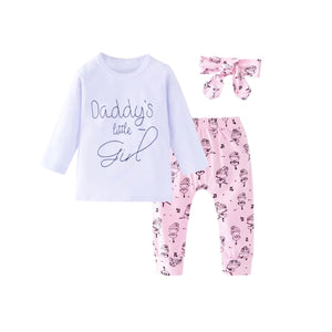 Clearance - 6-12 months - daddy's little girl ballet print lounge wear set