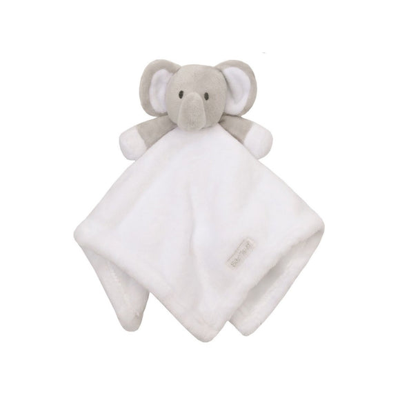 Elephant cuddly comforter - white and grey - gift toy