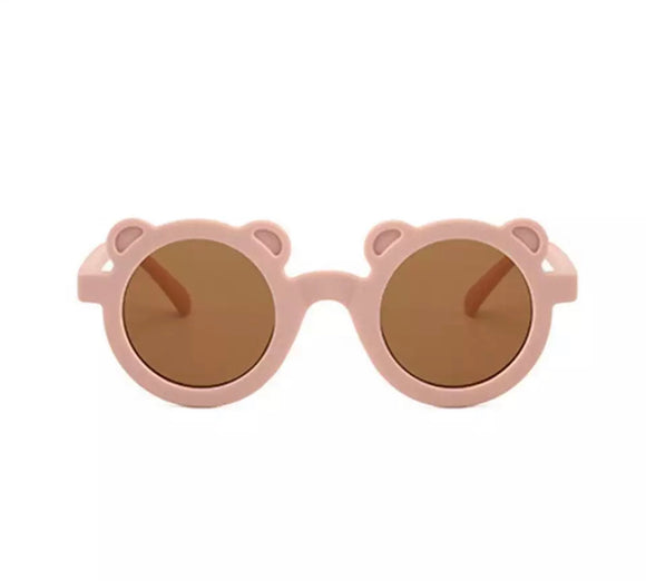 Nude teddy bear sunglasses (One Size - up to 5 years)