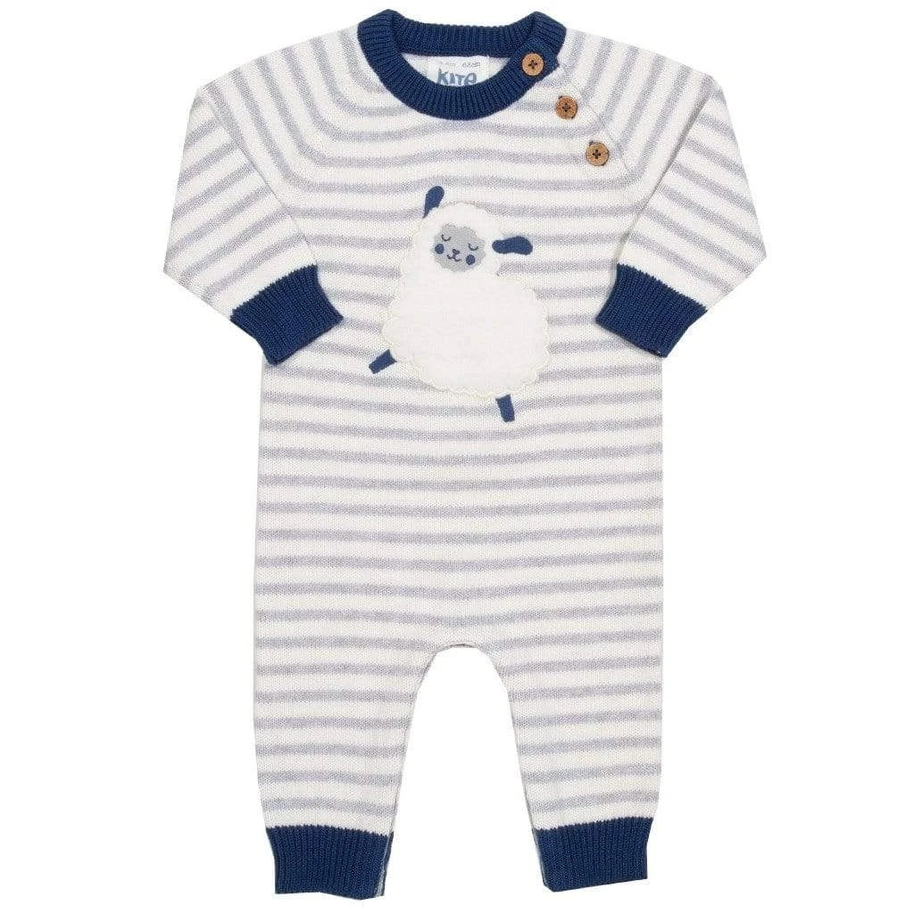 Certified organic knitted cotton sheepy knitted romper by KITE (0-18 months)