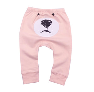 Bear bottom jersey cotton coral pink leggings