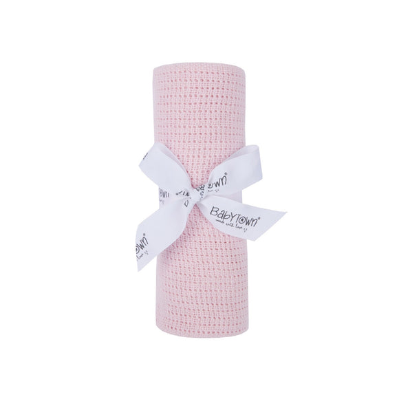 Babytown cellular blanket gift -70x90xm - baby pink