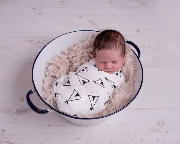 Extra large 120x120cm 100% bamboo cotton muslin monochrome swaddle blankets