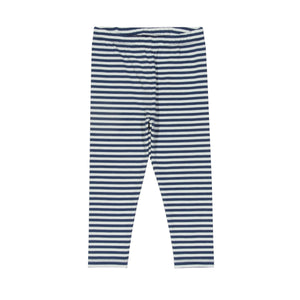 KITE organic cotton Breton stripe navy mini leggings (0 to 3 years)