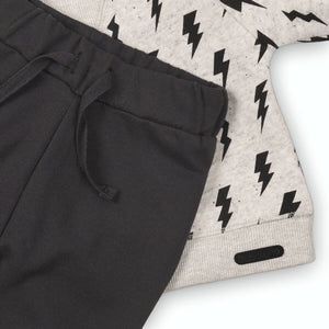 Lightening Bolt Jersey Cotton Sweater and Trouser Set (sizes 0 months to 2 years)