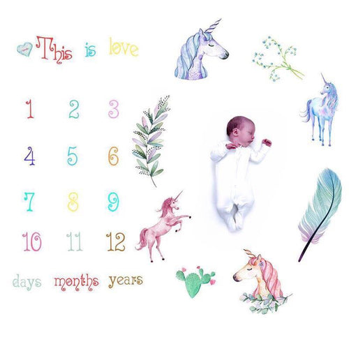 Milestone tribal unicorn print photo prop sheet