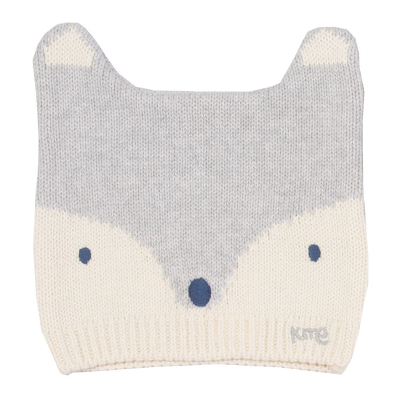KITE GOTS certified organic cotton fox knitted hat