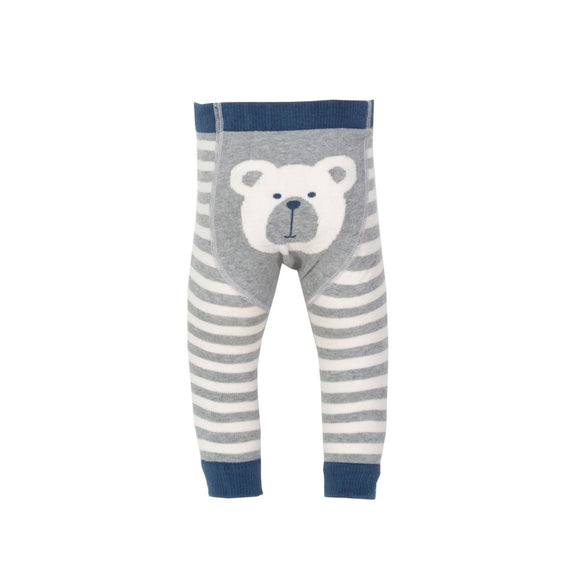 12-24 months - KITE organic GOTS certified cotton bear knit leggings