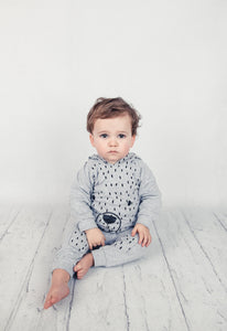 Grey hooded bear top and trouser set (up to 2 years)