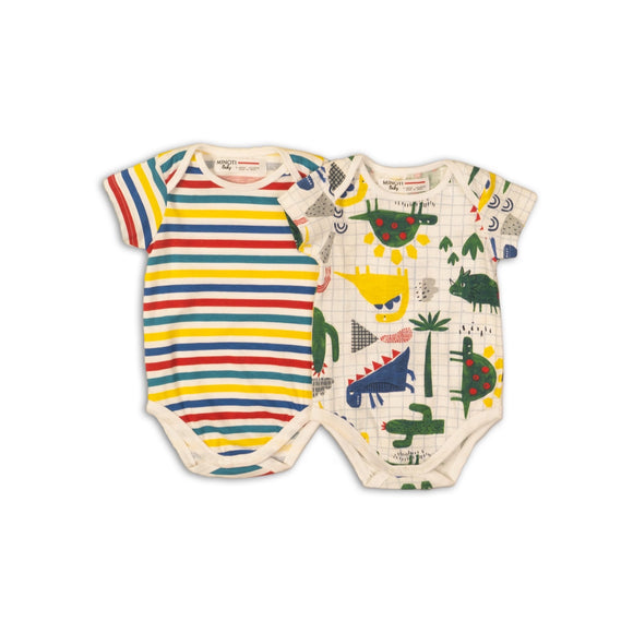 Rex and the rainbow bodysuit set (0-12 months)